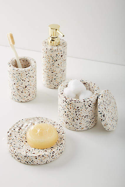 Anthropologie Terrazzo Bath Collection