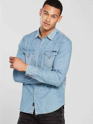 Replay Western Denim Shirt Light Wash