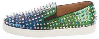 Christian Louboutin Roller Boat Spike Slip-On Sneakers