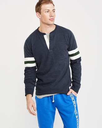 Abercrombie & Fitch Long-Sleeve Varsity Henley