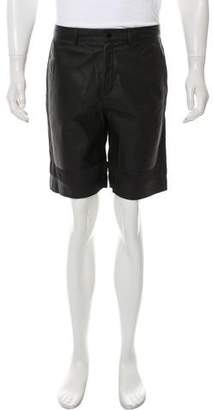 Alexander Wang Lambskin Leather Paneled Shorts