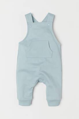 H&M Cotton Bib Overalls - Turquoise