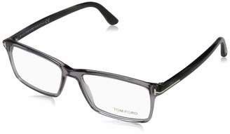d9168c81c6 Tom Ford Men s TF 5408 020 Clear Gray Clear Rectangular Eyeglasses 56mm