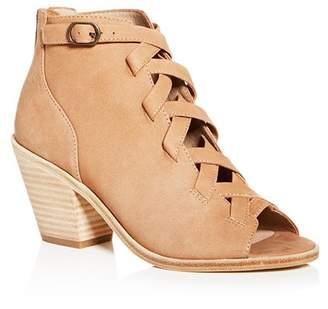 Eileen Fisher Women's Tumbled Nubuck Leather Mid-Heel Booties
