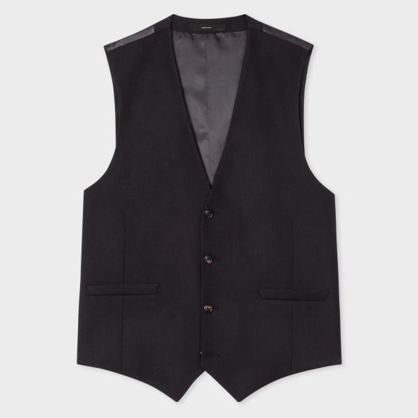 Paul SmithA Suit To Travel In - Men's Tailored-Fit Black Wool Waistcoat