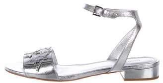 MICHAEL Michael Kors Metallic Ankle Strap Sandals