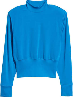 H&M Top with Shoulder Pads - Blue