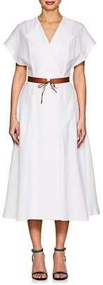 Martin Grant WOMEN'S BELTED KIMONO DRESS - WHITE SIZE 34 FR