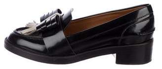 Tory Burch Patent Leather Bow Loafers