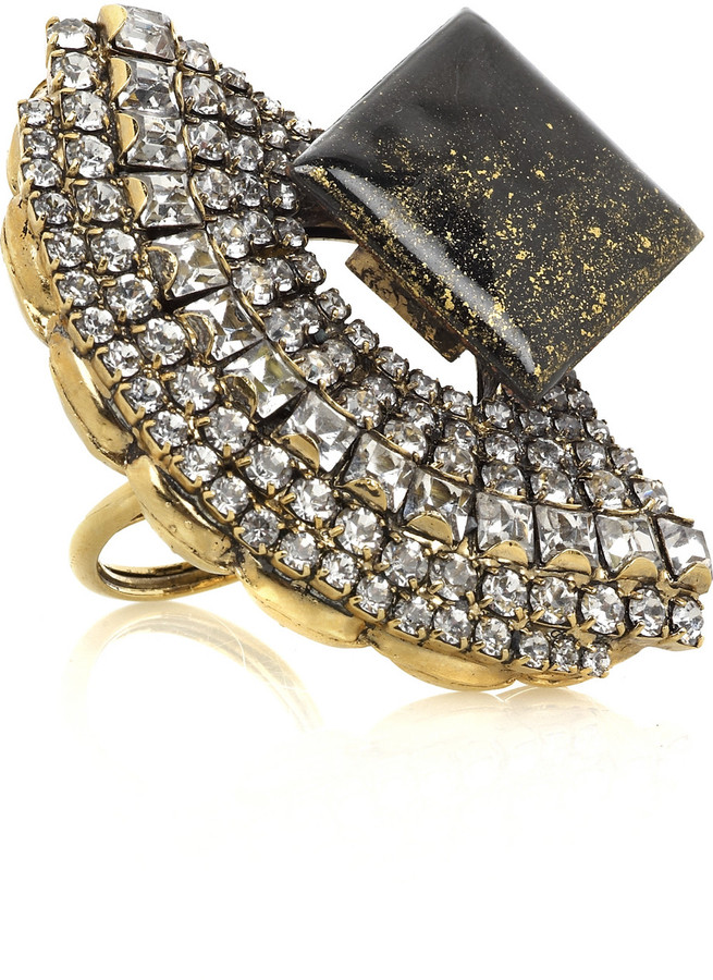 Erickson Beamon L'age D'or gold-plated ring