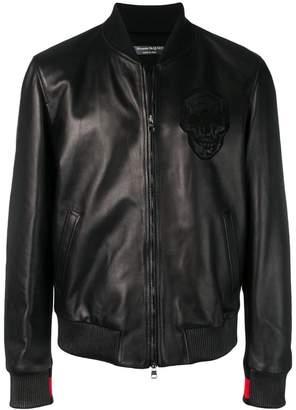 Alexander McQueen skull embossed bomber jacket