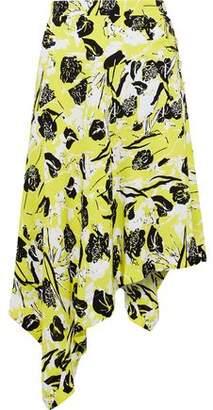 Derek Lam 10 Crosby Asymmetric Printed Crepe Skirt
