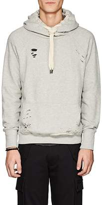 NSF Men's Distressed Cotton French Terry Hoodie
