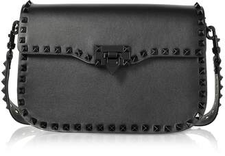 Valentino Black Rockstud Shoulder Strap Bag