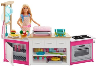 Barbie Careers Ultimate Kitchen with doll playset cooking and baking toy