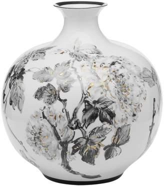 Twos Company Large Hand-Painted Porcelain Jar