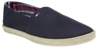 Tommy Hilfiger New Mens Blue Granada Canvas Shoes Slip On