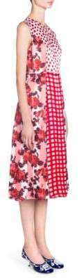 Marni Sleeveless Printed Patchwork Dress