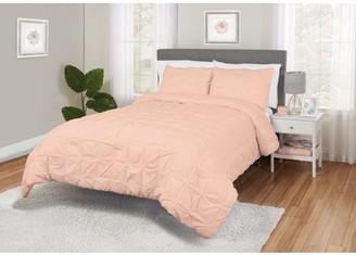 Better Homes & Gardens Pintuck Blocks Cotton Comforter & Sham Set, Multiple Colors