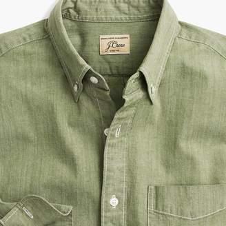 J.Crew Tall stretch one-pocket chambray shirt