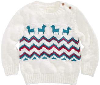 First Impressions Baby Boys Fairisle Llama-Print Sweater, Created for Macy's