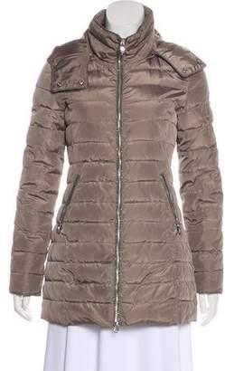 Armani Jeans Metallic-Trimmed Puffer Coat
