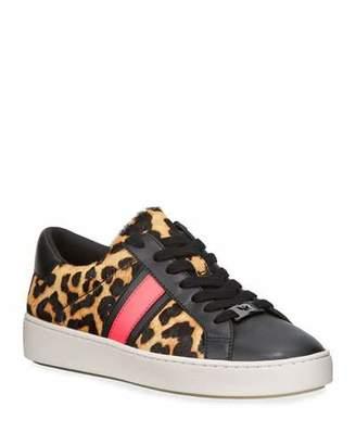 MICHAEL Michael Kors Irving Stripe Leopard Calf Hair Sneakers