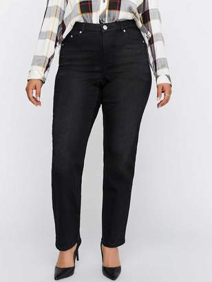 Shaping Curvy Slim Leg Black Denim - L&L