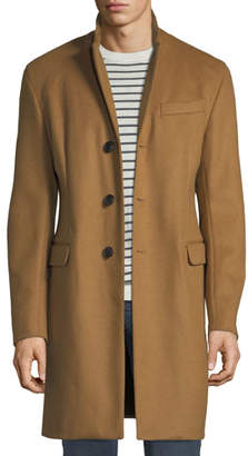 Emporio Armani Men's Single-Breasted Wool Top Coat, Beige
