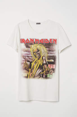 H&M Cotton Jersey T-shirt - Beige