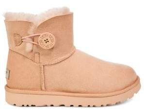 UGG Classic Mini Bailey Sheepskin-Lined Suede Boots