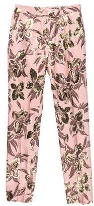 Christian Pellizzari Brocade High-Rise Pants