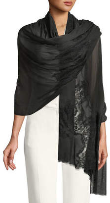 Bindya Accessories Opposite Attraction Lace-Trim Stole