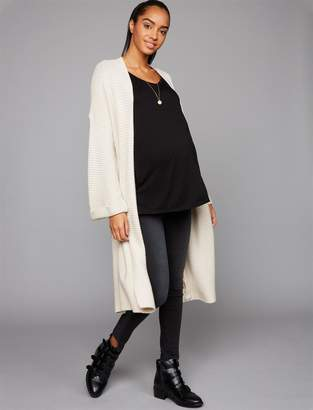 BB Dakota Cupcakes And Cashmere Heavy Knit Belted Duster Maternity Coat