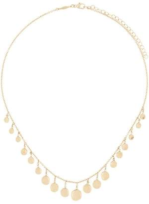 Jacquie Aiche 14kt yellow gold plain hammered disc Shaker necklace