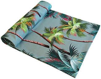 One Kings Lane Vintage Tropical Paradise Palm Tree Table Runner