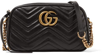 39b51d59b7a Gucci Gg Marmont Camera Small Quilted Leather Shoulder Bag - Black
