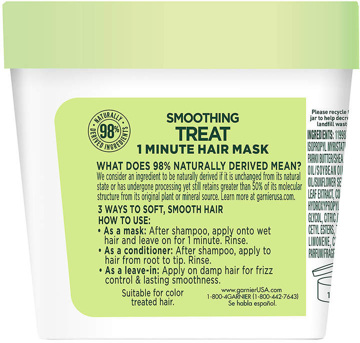 Garnier Fructis Smoothing Treat 1 Minute Hair Mask with Avocado Extract Image