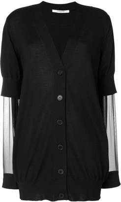 Givenchy sheer sleeve cardigan