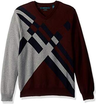 Perry Ellis Men's Argyle V-Neck Sweater