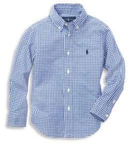 Ralph Lauren Boy's Gingham Cotton Poplin Button-Down Shirt