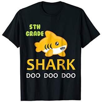 5th Grade Shark Shirt Back to school Tshirt Birthday Gift