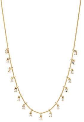 Ileana Makri Women's Baguette Fringe Necklace - Yellow Gold, Silver