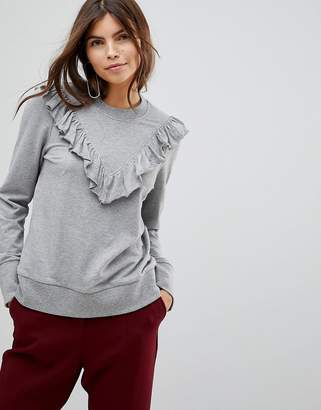 Vero Moda Ruffle Front Sweatshirt