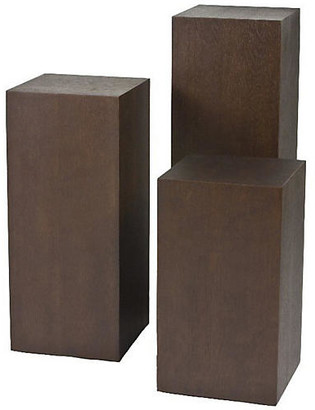 One Kings Lane Miami Pedestal Side Tables - Espresso