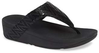c53df353d7d7 FitFlop Black Platform Wedge Women s Sandals - ShopStyle