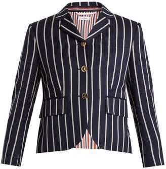 Thom Browne Single-breasted striped wool-blend blazer
