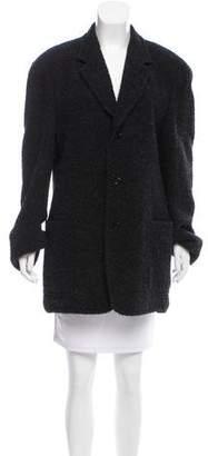 Donna Karan Bouclé Wool Coat