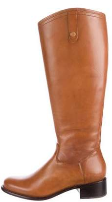 Corso Como Leather Round-Toe Knee-High Boots w/ Tags