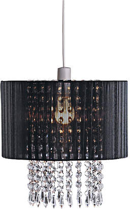Grazia Collection Voile Droplets Shade - Black